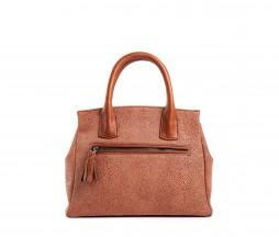 Borsa Milano in pelle razza color ruggine